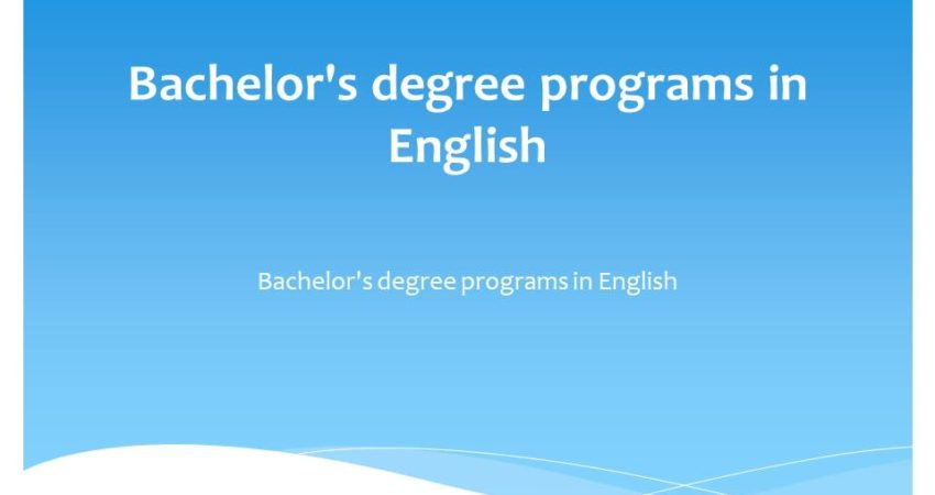 Bachelor's degree programs in English